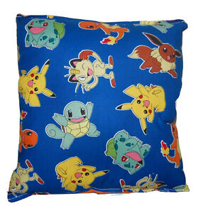 Pokemon-Pillow-HANDMADE-in-USA-Pikachu-Anime-Manga-Video-Game-Pokemon-Go