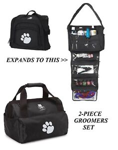 Details About Top Performance Groomer Duffle Tote Bag Set Tool Clipper Blade Accessory Storage