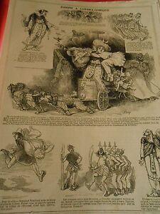 1866 Pèle Mèle De Dessins Joseph à L'opéra Comique