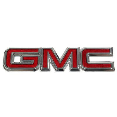 2Pc All Terrain Emblem Badge Door Tailgate Replacement For 2014-2017 GMC Sierra Silver-red