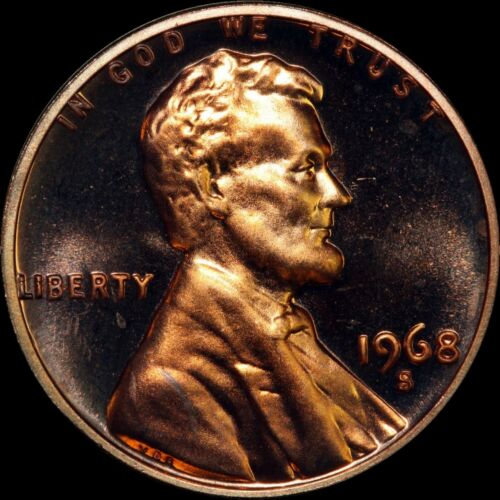 "1968 S Lincoln Memorial Cent PROOF Penny US Mint Coin in /""Beautiful/"" Condition"