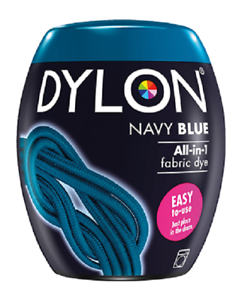 Dylon-Bleu-Marine-08-Machine-Tissu-Teinture-Gousses-Permanent-Textile-Colorants