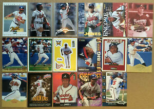 ANDRUW-JONES-LOT-of-32-Rookie-insert-cards-1997-1998-NM-Atlanta-Braves-RC-topps