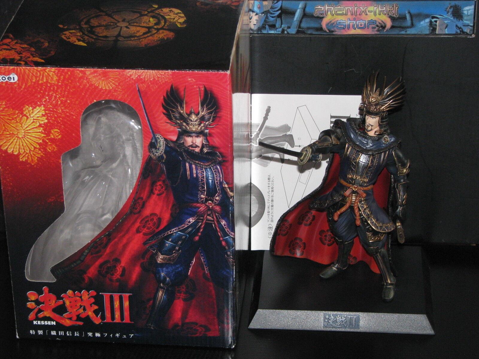 STATUE pvc KESSEN III 3 : ODA NOBUNAGA very RARE figure  figurine en boite KOEI
