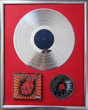 """Metallica St Anger gerahmte CD Cover +12"""" Vinyl goldene/platin Schallplatte"""