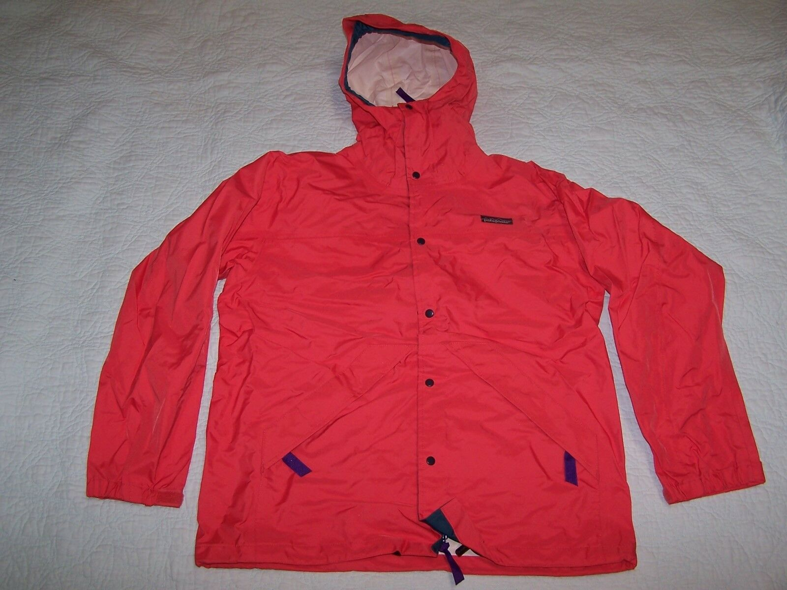 PATAGONIA  Herren Full Zip Orange 100% Nylon Rain Coat Größe XS