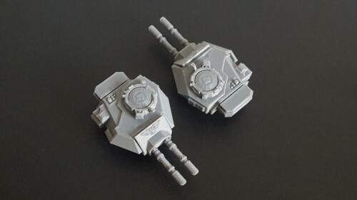 28mm Warhammer 40k Compatible 2 x Rhino Predator Type Twin Lascannon Turrets