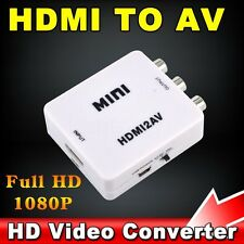 HDMI to AV Composite RCA CVBS Video + Audio Signal Converter For TV PS3 PS4 VHS