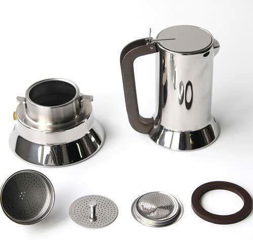 ALESSI CAFFETTIERA ESPRESSO  9090  Design R.Sapper OMAGGIO 2 TAZZZINE CAFFE/'