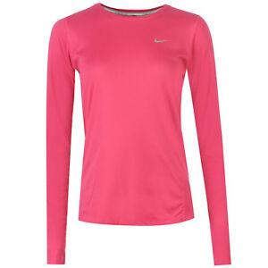 el plastico Subdividir pesado  Nike Women's Dri-FIT Miler Long Sleeve Running Shirt (744743-617) | eBay