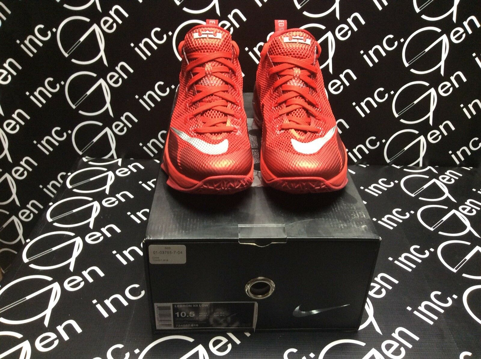 Nike Lebron 12 XII Low University Red Reflective Silver Size 10.5