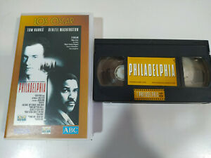 Philadelphia-Tom-Hanks-Banderas-Denzel-Washington-VHS-Cinta-Tape-Espanol
