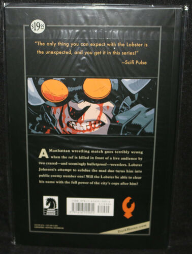 NM Get the Lobster TPB 1st Print Lobster Johnson #4 2015 Signed Mike Mignola