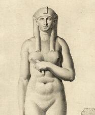 Egypte Sculpture Statue Isis Nu - Campiglia Capitole Gravure originale XVIIIe