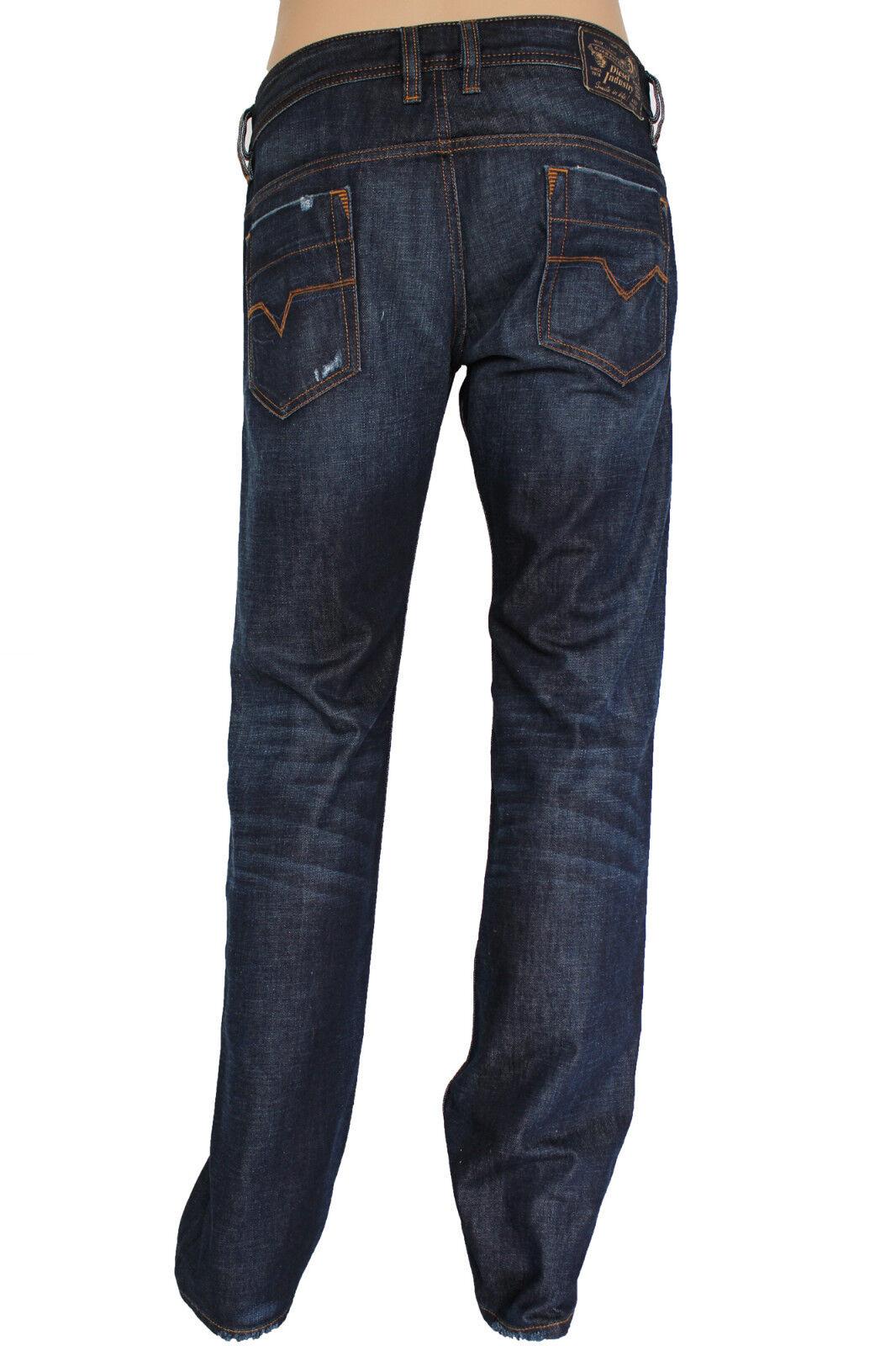 NEW Diesel Mens Size 30w 33L Safado Slim Straight bluee Jeans