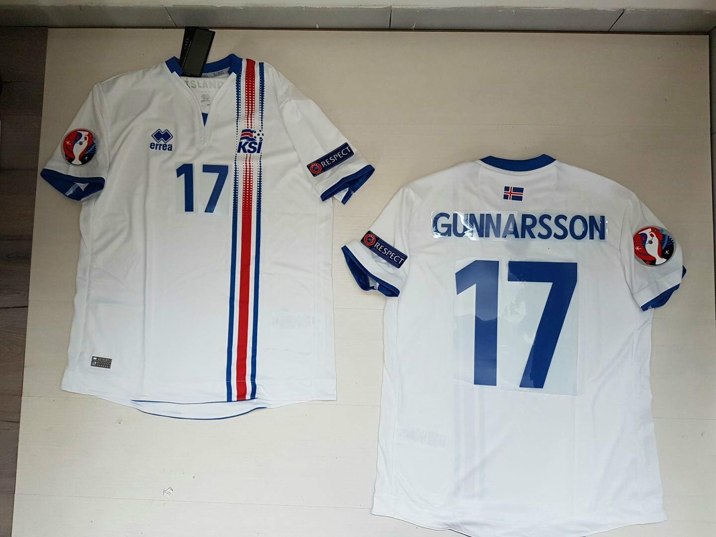 GUNNARSSON ISLANDA IJSLAND ^55553333;sland MALLETTA JERSEY SHIRT EURO 2016 PATCH W