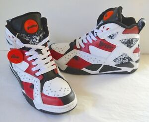 f0b1e601715b VNDS Reebok Pump Hi Top Blacktop Battleground White Black Flash Red ...