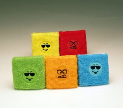 40 x Schweißband Smiley Funny und Angry Face Mitgebsel Kindergeburtstag Neu