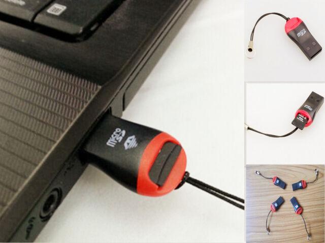 2PCS USB 2.0 Micro SD SDHC TF Flash Memory Card Reader Mini Adapter For Laptop