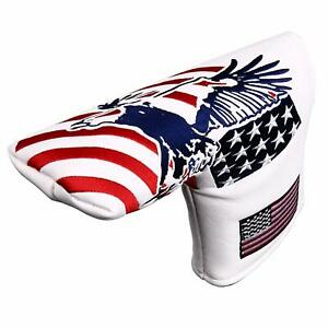 Golf-Blade-Putter-Headcover-Magnetic-For-Taylormade-Scotty-Cameron-USA-Eagle