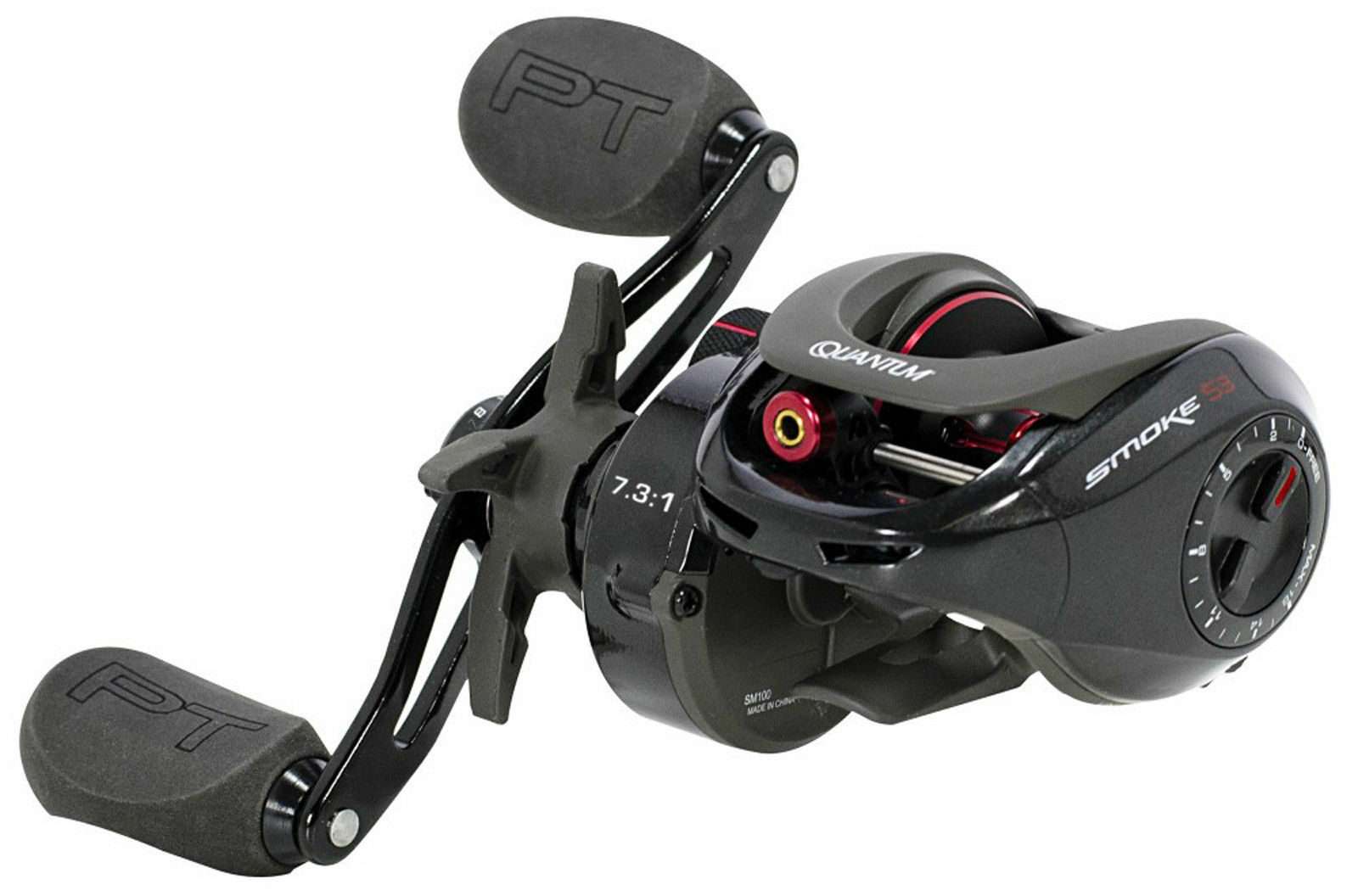 2019 Quantum SM100XPT Smoke S3 PT Baitcasting Reel 8.1  1 Right Hand Speed Freak  cheaper prices