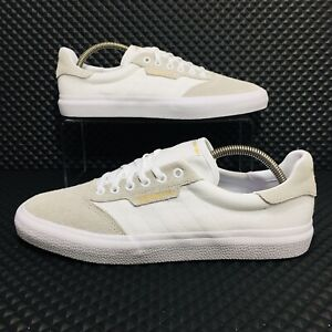 Adidas-3MC-Men-s-Size-10-5-Athletic-Skate-Casual-Sneakers-White-Grey-Shoes