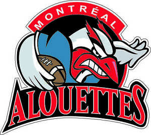 Montreal ALOUETTES CFL Licensed Logo Sticker Ultra Decal Size 5.5 x 4.5 Inch New