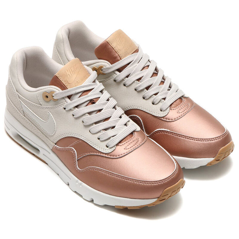AUTHENTIC NIKE Air Max 1 Ultra SE Beige Metallic Bronze Gold 861711 femmes Taille