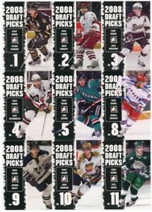 2008-09-In-The-Game-Heroes-amp-Prospects-Hockey-Draft-Picks-20-Card-Insert-Set