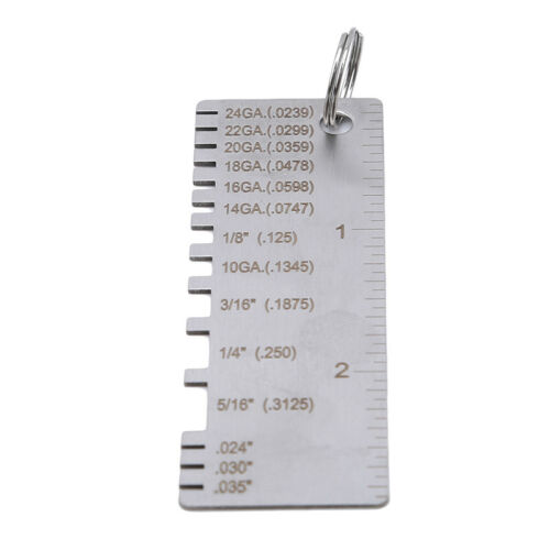 Thickness Gauge Stainless Welding Gage Plated Size Inspection Sheet Tool XS