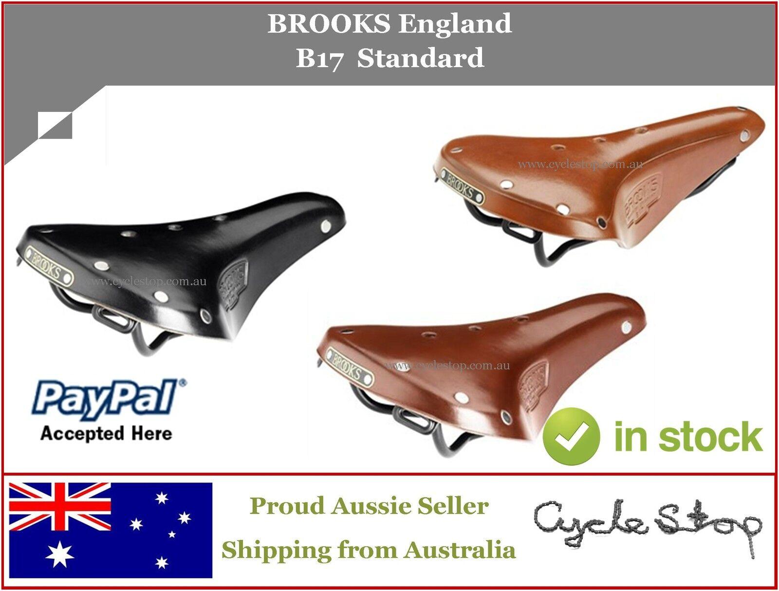 BIKE SEAT - BROOKS England - GENTS B17 LEATHER SADDLE + 40g Proofide tin
