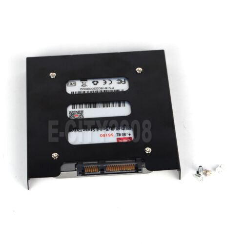"""2.5/"""" to 3.5/"""" Bay SSD Metal Hard Drive HDD Mounting Bracket Adapter Tray w//Cable"""