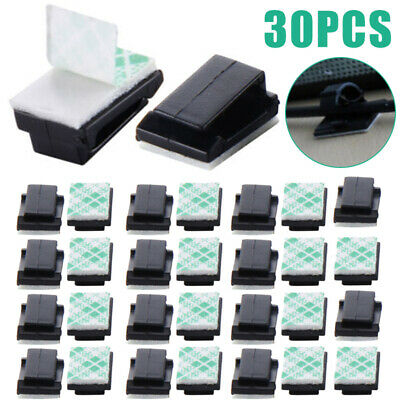200pcs Adhesive Cable Clips Car Wire Rectangle Tie Sticker Cable Cord Holder Set