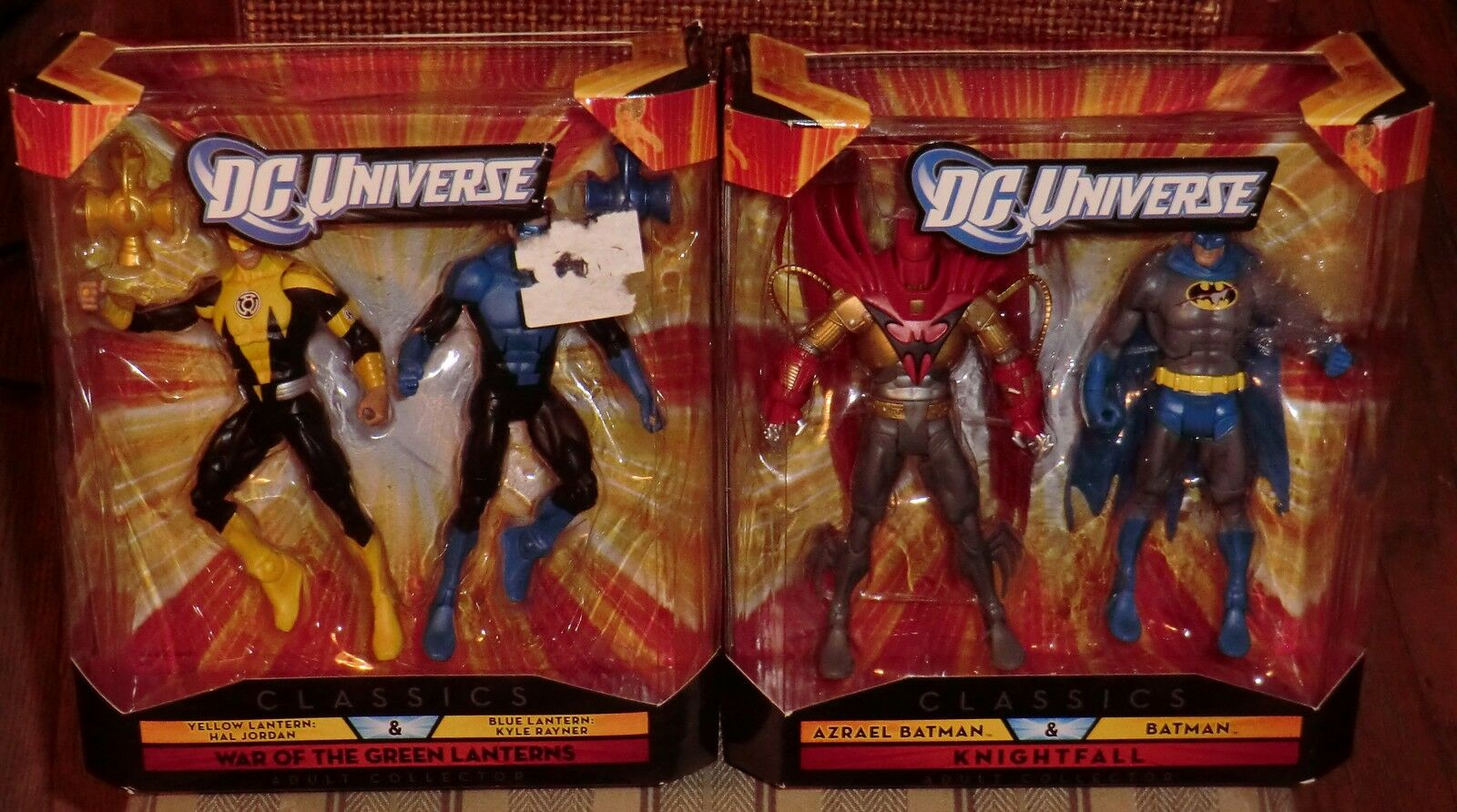DC UNIVERSE  CLASSICS KNIGHTFALL & WAR OF THE LANTERNS  BOX SETS  4 FIGURES MISB