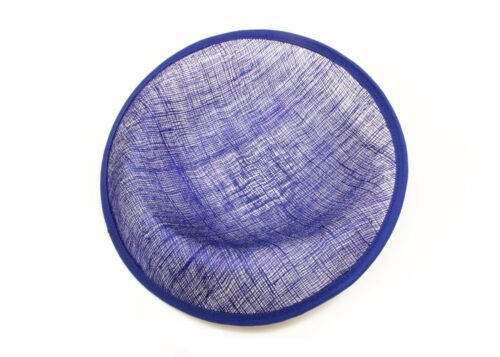 """Available in 16 Colors 9 1//2/"""" Blue Sinamay Saucer with Upturned Brim Hat Base"""