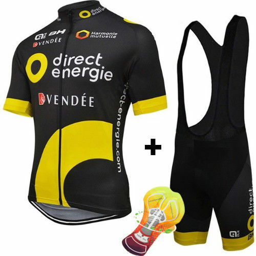 VENDEE DIRECT ENERGIE Cycling Jersey Set Pants Shorts Bike Ropa Ciclismo MTB Mai