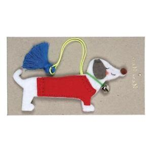Felt Sausage Dog Christmas Tree Hanging Decoration Dashshund Bauble