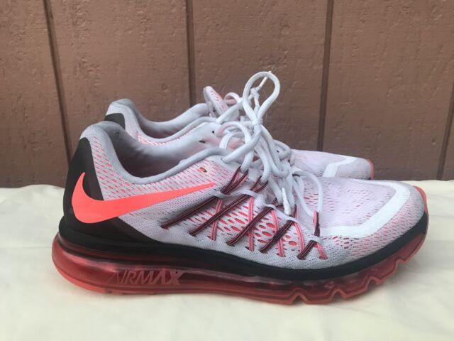 info for f81cf 97365 EUC Nike Air Max 2015 Men s Running Shoes White Crimson 698902 106 Men US  10.5