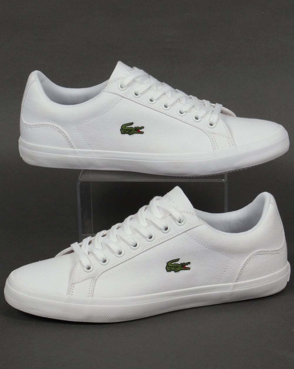 Lacoste Lerond BL Trainers in Weiß - canvas low top Turnschuhe