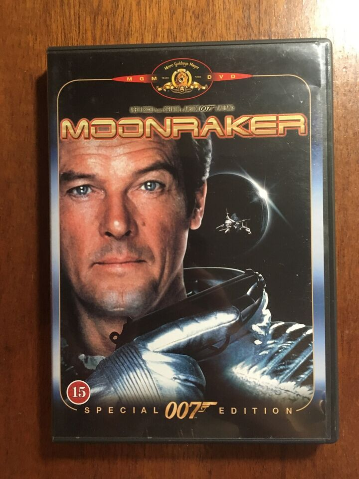 James Bond Moonraker, instruktør Lewis Gilbert, DVD