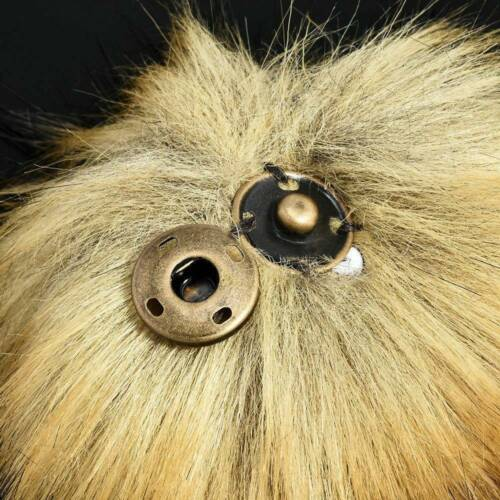 DIY Women Faux Raccoon Fur Pom Poms Ball for Knitting Beanie Hats Accessories