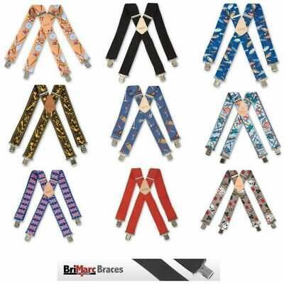 "Brimarc Mens Heavy Duty Scottish Flag Braces Trouser Belt Suspender 2/"" 50mm Wide"