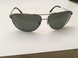 1b5fb300dce Ray Ban RB3506 029 9A 6413 Gunmetal Silver Frame Polarized Green ...