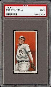 Rare 1909-11 T206 Bill Chappelle Piedmont 350 Rochester Minor League PSA 5 EX