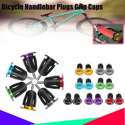 1 Pair Bike Bicycle Aluminum Alloy Lock Handlebar Grips Cap End Plugs