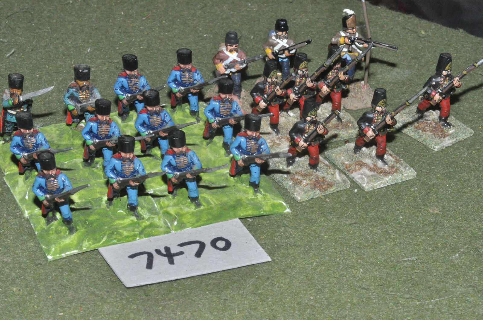 25mm 7YW   Austrian - seven years war grenzers 20 figures metal - inf (7470)