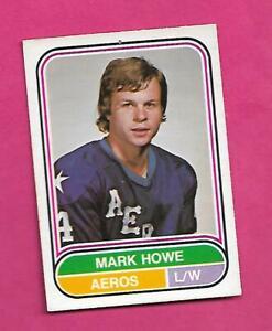 RARE-1975-76-OPC-WHA-7-AEROS-MARK-HOWE-ROOKIE-GOOD-CARD-INV-D2082