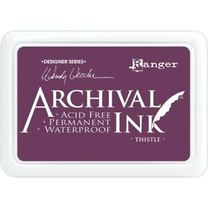 New-Ranger-Archival-Ink-THISTLE-Stamp-Pad-Waterproof-Dye-Ink-Wendy-Vecchi