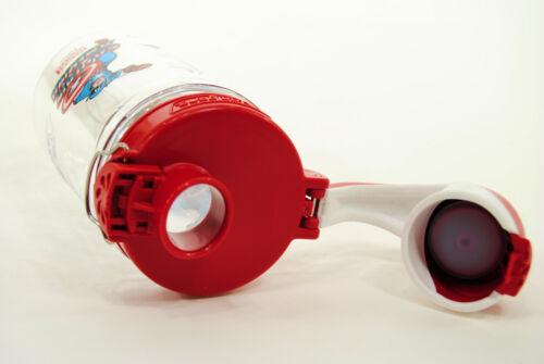 CAPTAIN AMERICA Water Bottle Clear//Red Nalgene Kids On the Fly 12 oz