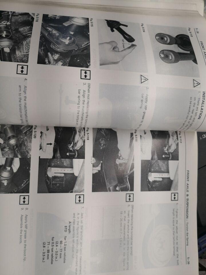 Værkstedsbog, Toyota Hilux RN og 40 serie